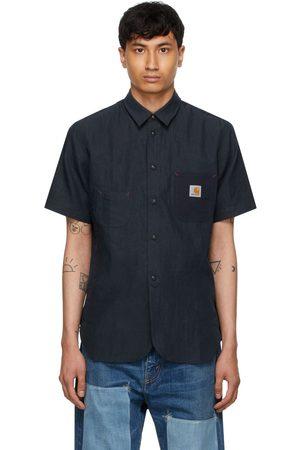 JUNYA WATANABE Navy Carhartt Edition Garment-Dyed Short Sleeve Shirt