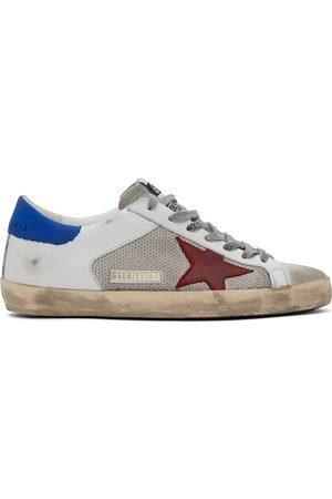 Golden Goose White & Grey Super-Star Sneakers