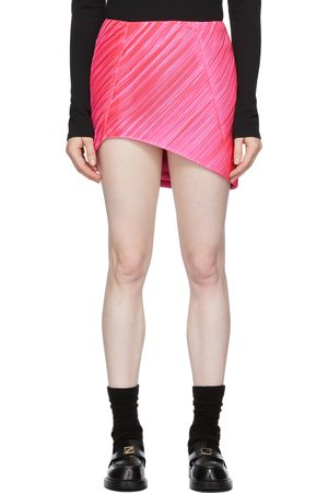 We11 Done Pink Twisted Cylinder Miniskirt