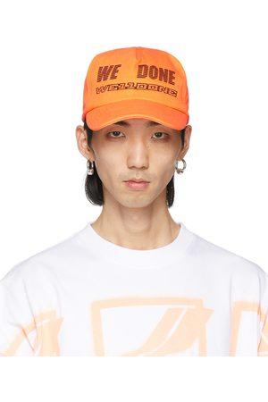 We11 Done Orange Logo Trucker Cap