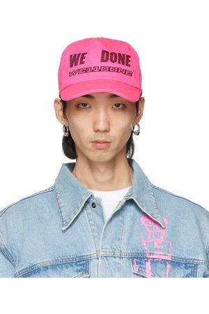 We11 Done Pink Logo Trucker Cap