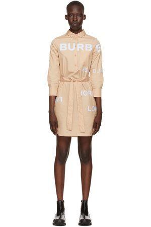 Burberry Beige Poplin 'Horseferry' Shirt Dress