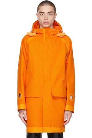 Burberry Orange Cut-Out Detail Coat