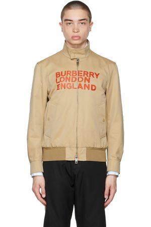 Burberry Beige Harrington 'Love' Jacket