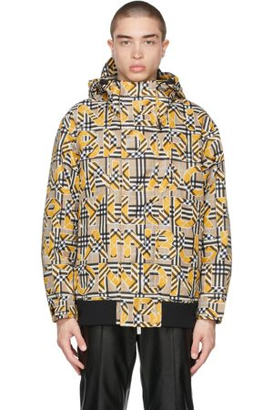 Burberry Beige & Yellow Vintage Check Logo Jacket