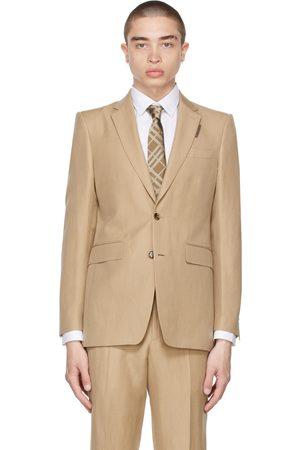 Burberry Beige Linen Classic Fit Blazer