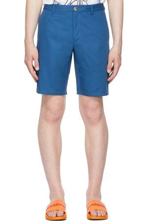 Burberry Blue Logo Appliqué Chino Shorts