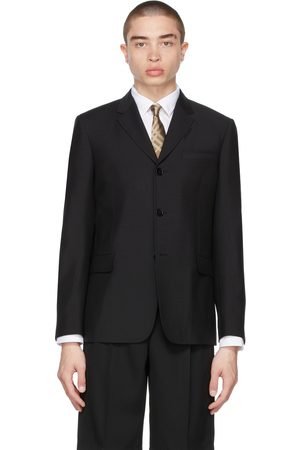 Burberry Mohair Tailored Relaxed Fit Blazer