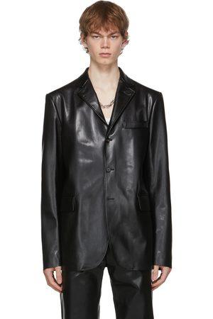 Marni Black Faux-Leather Blazer