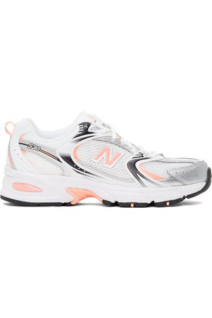 New Balance White & Pink 530 Sneakers