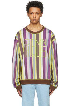 Phlemuns Green Striped Oversized Logo Sweatshirt