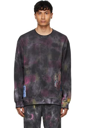 McQ Black Relaxed-Fit Coverstitch Sweatshirt