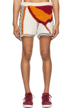 Bethany Williams Off-White & Multicolor Wool Knitted Face Shorts