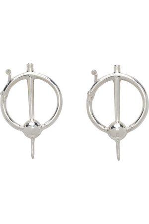 PEARLS BEFORE SWINE Silver Mod Earrings