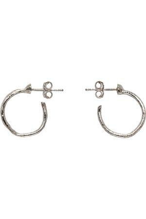 PEARLS BEFORE SWINE Silver Textured Hoop Earrings