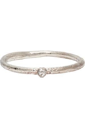 PEARLS BEFORE SWINE Silver White Diamond Ring