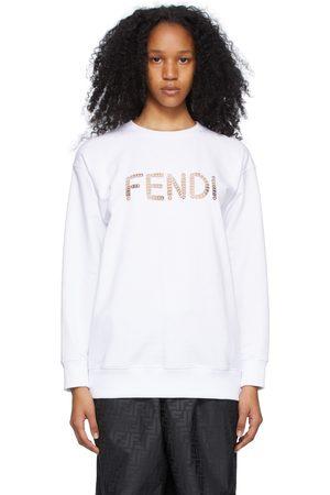 Fendi White Cut-Out Logo Sweatshirt