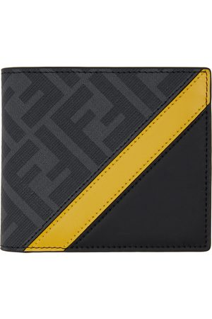 Fendi Black & Yellow 'Forever ' Bifold Wallet