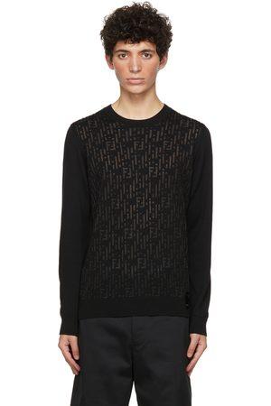 Fendi Black Wool 'Forever ' Sweater