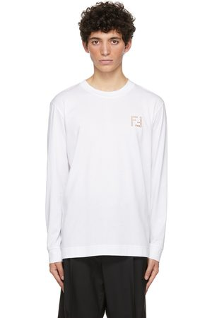 Fendi White 'Forever ' Long Sleeve T-Shirt