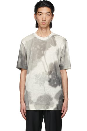 Fendi Off-White Linen Shady Flowers T-Shirt