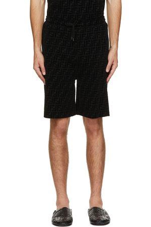 Fendi Black Piqué 'Forever ' Shorts