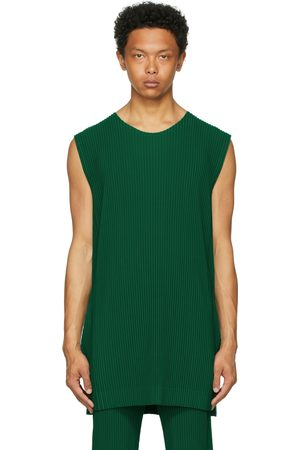 HOMME PLISSÉ ISSEY MIYAKE Green Monthly Color May Tank Top