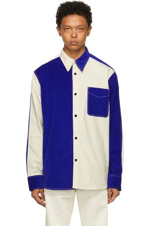 WALES BONNER Off- and Montego Colorblock Shirt