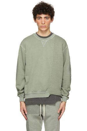 JOHN ELLIOTT Green Reconstructed Vintage Crew Sweatshirt
