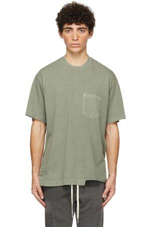 JOHN ELLIOTT Green Reconstructed Lucky Pocket T-Shirt