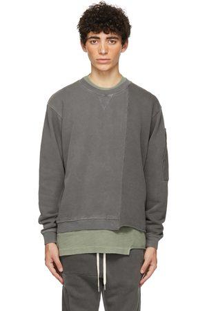 JOHN ELLIOTT Black Reconstructed Vintage Crew Sweatshirt