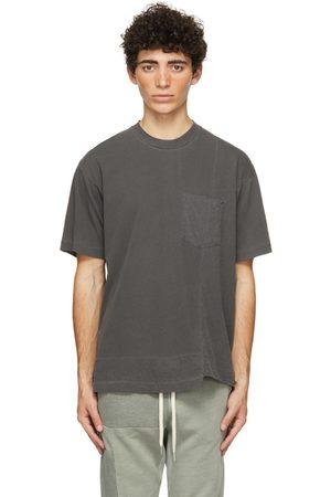 JOHN ELLIOTT Black Reconstructed Lucky Pocket T-Shirt