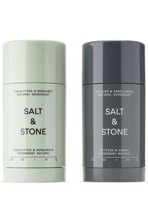 Salt And Stone Natural Eucalyptus and Sandalwood Deodorant Set