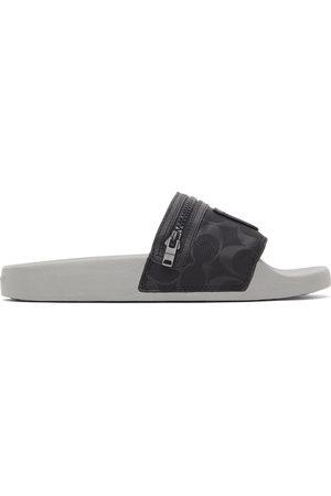 Coach Black Nylon Pocket Sandals