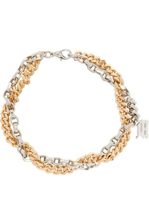 MISBHV Gold & Silver Mixed Chain Monogram Necklace