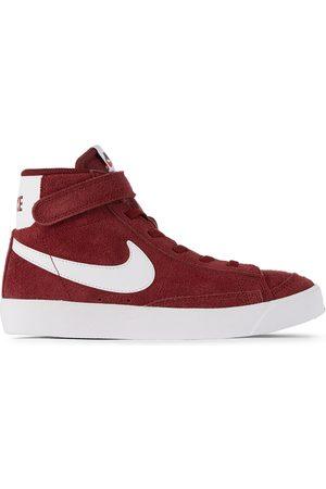 Nike Kids Burgundy Suede Blazer Mid '77 Sneakers