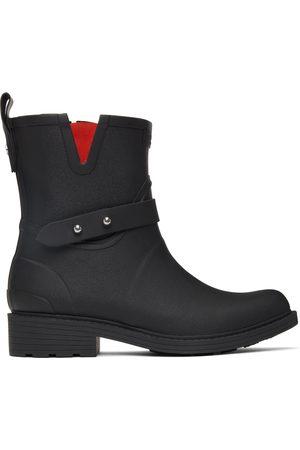 RAG&BONE Black Moto Rain Boots
