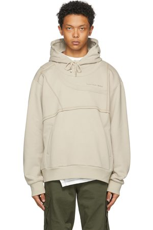 Feng Chen Wang SSENSE Exclusive Beige French Terry Paneled Hoodie