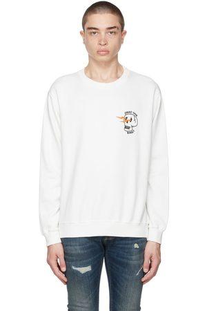 Nudie Jeans White 'Shake Your Bones' Lasse Sweatshirt