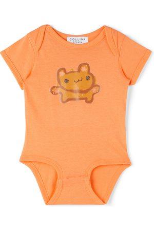 Collina Strada SSENSE Exclusive Baby Orange Bear Printed Bodysuit