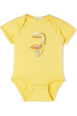 Collina Strada SSENSE Exclusive Baby Yellow Worm Printed Bodysuit