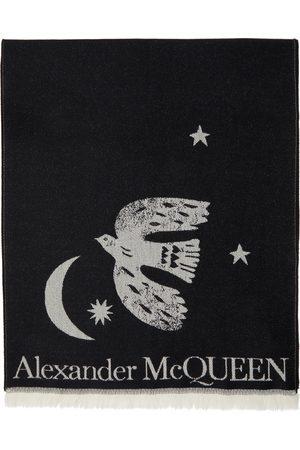 Alexander McQueen Black Wool Oversize Mystical Scarf