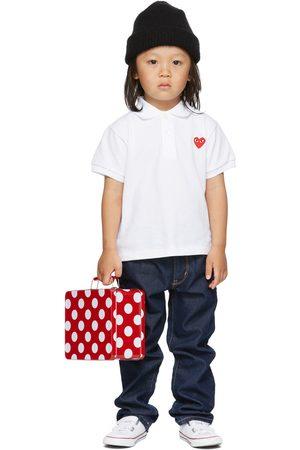 Comme des Garçons Kids White Heart Patch Polo