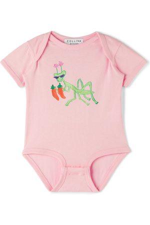 Collina Strada SSENSE Exclusive Baby Pink Hot Mantis Bodysuit