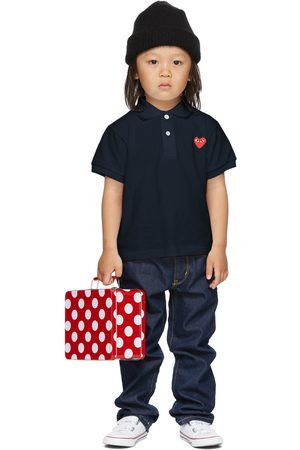 Comme des Garçons Kids Navy Heart Patch Polo