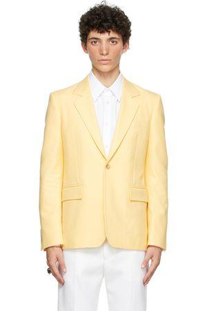 Alexander McQueen Yellow Cotton '70s Peak Rever Blazer