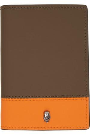Alexander McQueen SSENSE Exclusive Khaki & Orange Pocket Organizer Card Holder