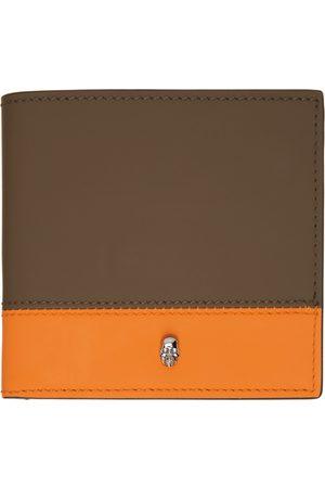 Alexander McQueen SSENSE Exclusive Khaki & Orange Bifold Wallet