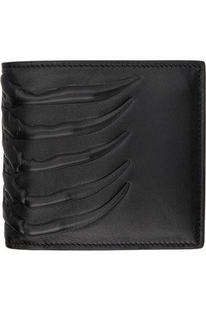 Alexander McQueen Black Rib Cage Bifold Wallet