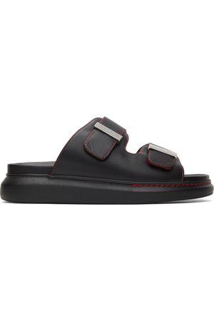 Alexander McQueen Black & Orange Hybrid Sandals
